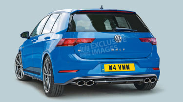 New Volkswagen Golf R - rear (watermarked)