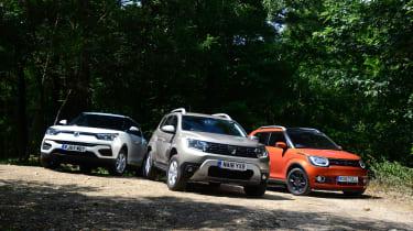 Dacia Duster vs Suzuki Ignis vs SsangYong Tivoli - header