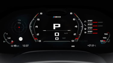 BMW M8 Gran Coupe - dials