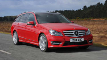 Mercedes C-Class Estate front tracking