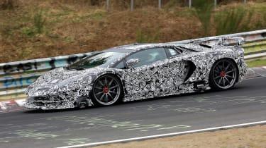 Lamborghini Aventador SVJ - spyshot side action