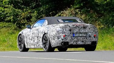 BMW M8 spy shot rear quarter