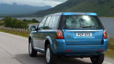 Land Rover Freelander facelift rear tracking blue