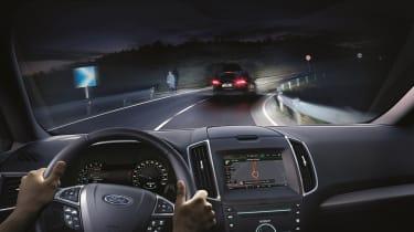 Driving at night with matrix lights