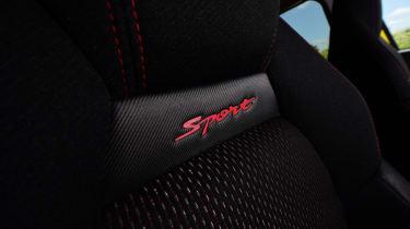Suzuki Swift Sport seat badge