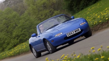 "The original <a href=""/mazda/mx-5"">Mazda MX-5</a> launched in 1989 at the Chicago Motor Show before going on sale in North America and Japan later that year and arriving in Europe in 1990. Although the Mazda MX-5 is known as such on th"