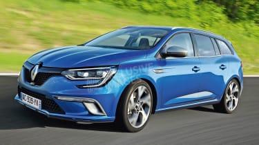 Renault Megane estate - exclusive picture