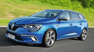 Renault Megane estate - exclusive picture