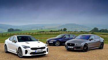 Kia Stinger vs Jaguar XE vs Alfa Romeo Giulia