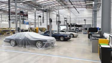 Workshop covered cars