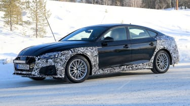 Audi A5 Sportback spies - winter front 3/4