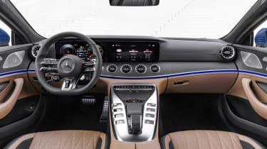 Mercedes-AMG GT 4-Door 2021 facelift blue - interior