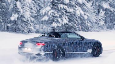 Bentley Continental GTC spies rear