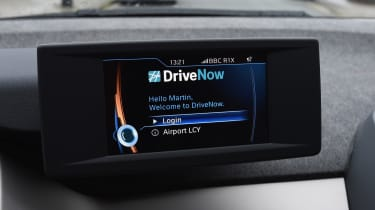 Ultimate guide to car sharing - DriveNow BMW i3 screen