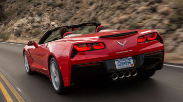 Chevrolet Corvette Stingray Convertible rear corner