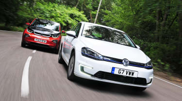 VW e-Golf vs BMW i3
