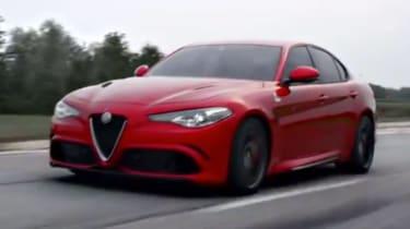 Alfa Romeo Giulia - screen grab driving
