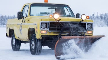 American pick-up snow plough