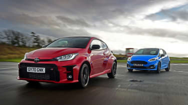Toyota GR Yaris vs Ford Fiesta ST Edition - tracking