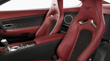 Bentley Continental Supersports coupe seats