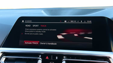BMW M4 Competition - infotainment