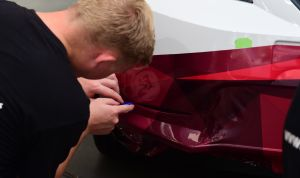 Vinyl wrapping process