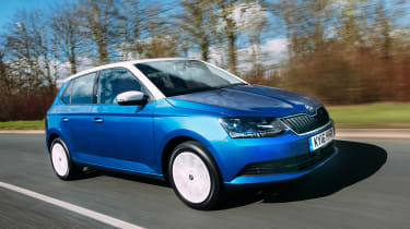 Skoda Fabia Colour Edition - front action