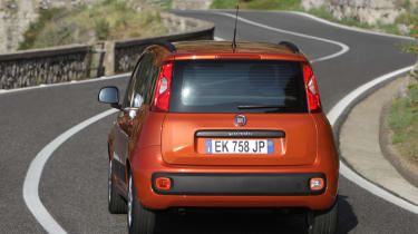 Fiat Panda rear cornering