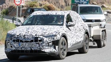 Audi e-tron spy shot front quarter
