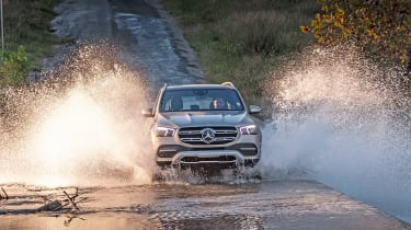 Mercedes GLE water splash