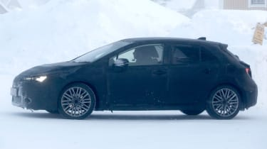 Toyota Auris spy shot 2018 side