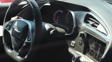 Corvette ZR1 interior close-up