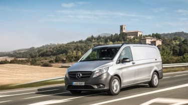 Mercedes Vito van 2015 - on the road