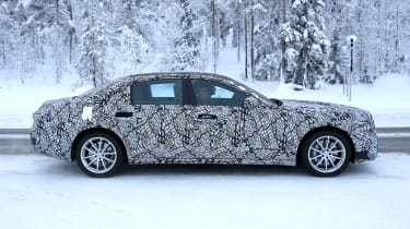 Mercedes S-Class Spies - side