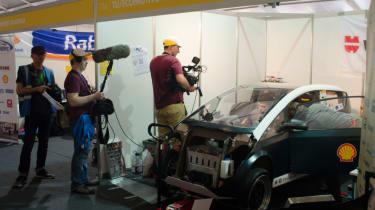Flax fibre car - filming