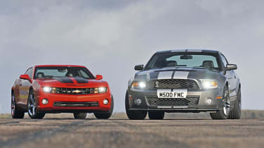 Shelby Mustang vs. Chevy Camaro