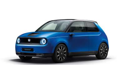 Honda e front blue