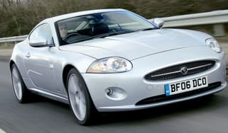 Front view of Jaguar XK Coupe