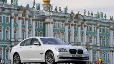 BMW 750i front three-quarters