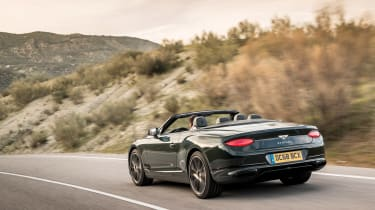 Bentley Continental GT Convertible - rear tracking
