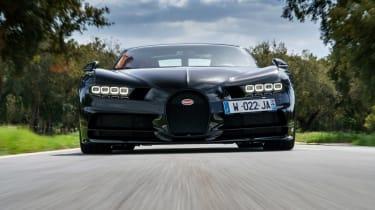 Bugatti Chiron - full front action