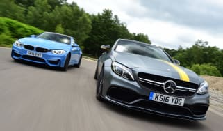Mercedes-AMG C63 S Coupe vs BMW M4 - head-to-head