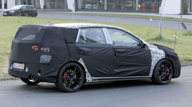 Hyundai i30 N facelift – rear action