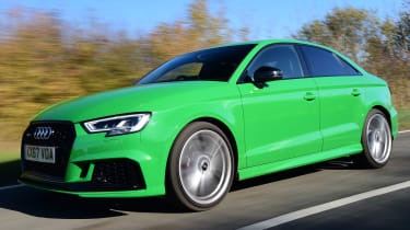 audi rs 3 saloon tracking front