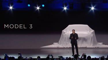 Tesla Model 3 covered car