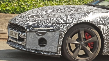 Jaguar F-Type facelift spy shot front detail