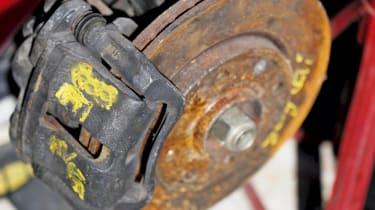 UK Floods: rusty brakes