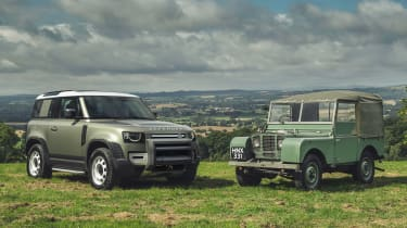 2019 Land Rover Defender and Land Rover Series I