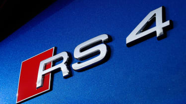 The RS4 tops the A4 lineup and gets enormous brakes, sports seats, and a huge 4.2-litre V8.