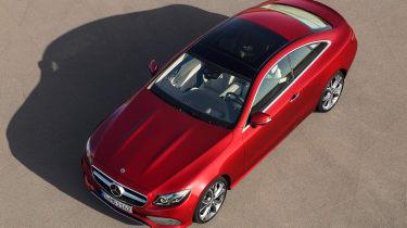 Mercedes E-Class Coupe - overhead
